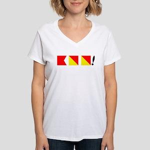 Boo! Nautically Speaking Women's V-Neck T-Shirt