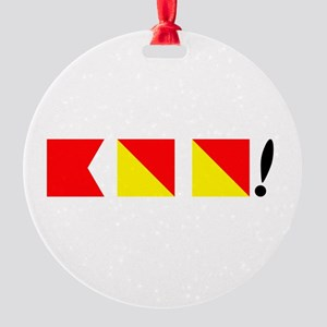 Boo! Nautically Speaking Round Ornament
