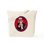 Uncle Sam Says: Fracking Is A Crime Tote Bag