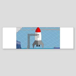Lab Room & Rocket Bumper Sticker