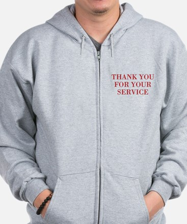 thank you for your service Zip Hoodie