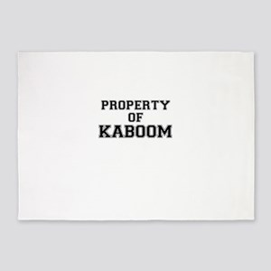 Property of KABOOM 5'x7'Area Rug