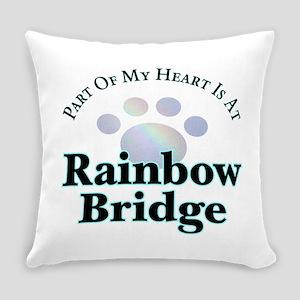 Rainbow Bridge Rainbow Paw Everyday Pillow