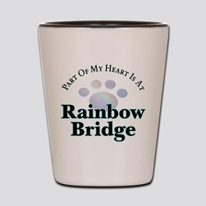 Rainbow Bridge Rainbow Paw Shot Glass