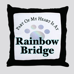 Rainbow Bridge Rainbow Paw Throw Pillow