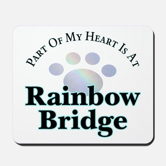 Rainbow Bridge Rainbow Paw Mousepad