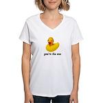Rubber Duckie Women's V-Neck T-Shirt