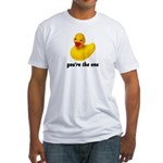Rubber Duckie Fitted T-Shirt