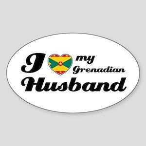 I love my Grenadian husband Oval Sticker