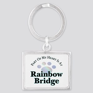 Rainbow Bridge Rainbow Paw Keychains