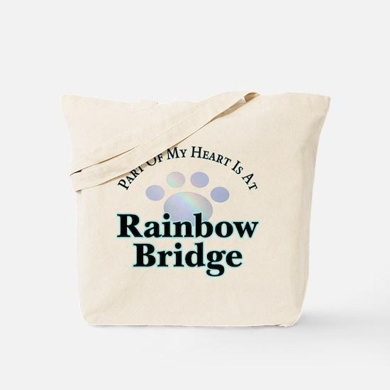 Rainbow Bridge Rainbow Paw Tote Bag