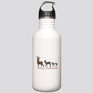Merry Christmas plaid Stainless Water Bottle 1.0L