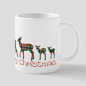Merry Christmas plaid deer family Mugs