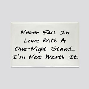 Never Fall In Love Rectangle Magnet