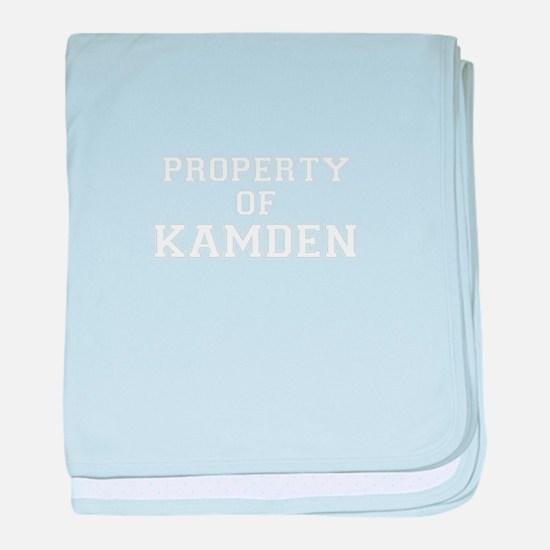 Property of KAMDEN baby blanket