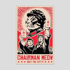 Follow Chairman Meow! Cat Mini Poster Print