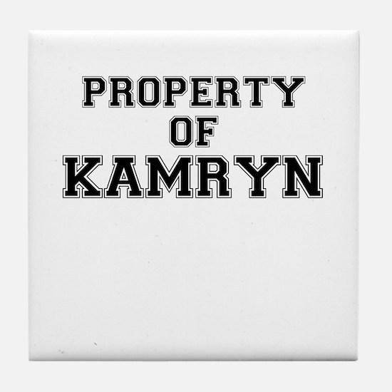 Property of KAMRYN Tile Coaster