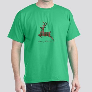 Merry Christmas plaid deer T-Shirt