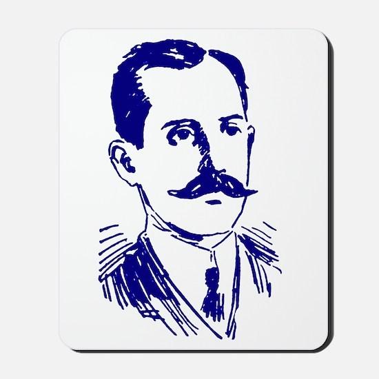 MR. WRIGHT'S MUSTACHE BLUE Mousepad