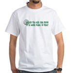 Moon Ribs White T-Shirt