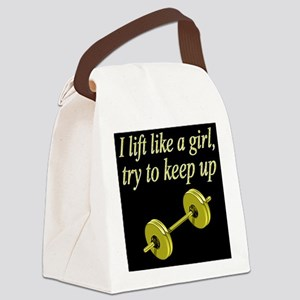 MUSCLE GIRL Canvas Lunch Bag