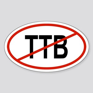 TTB Oval Sticker