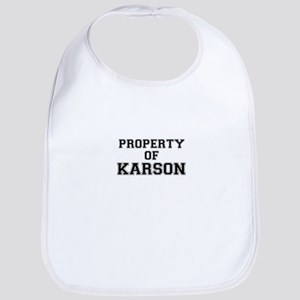 Property of KARSON Bib