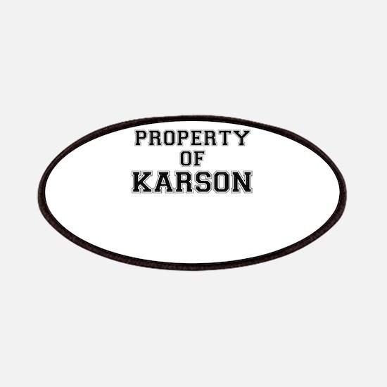 Property of KARSON Patch