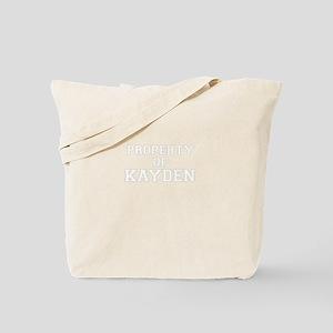 Property of KAYDEN Tote Bag