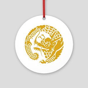Circle of Nichiren Buddhism dragon Round Ornament