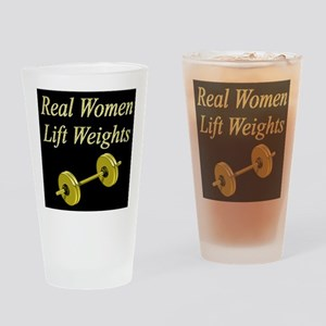 MUSCLE GIRL Drinking Glass