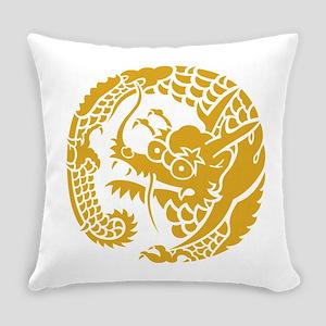 Circle of Nichiren Buddhism dragon Everyday Pillow