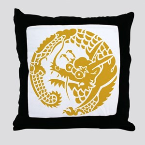 Circle of Nichiren Buddhism dragon Throw Pillow