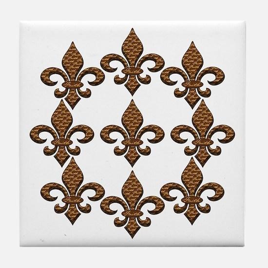 Faith Fleur de lis Tile Coaster