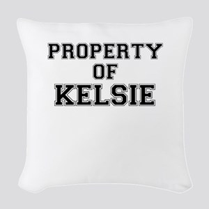 Property of KELSIE Woven Throw Pillow