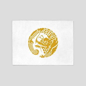 Circle of Nichiren Buddhism dragon 5'x7'Area Rug