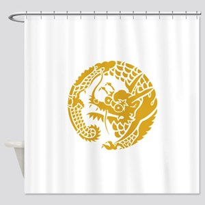 Circle of Nichiren Buddhism dragon Shower Curtain
