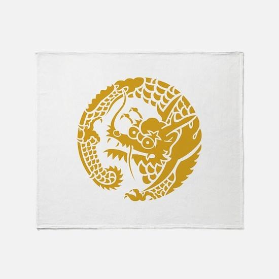 Circle of Nichiren Buddhism dragon Throw Blanket