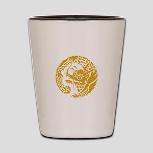 Circle of Nichiren Buddhism dragon Shot Glass