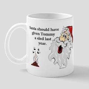 Surprise Santa Poop Mug