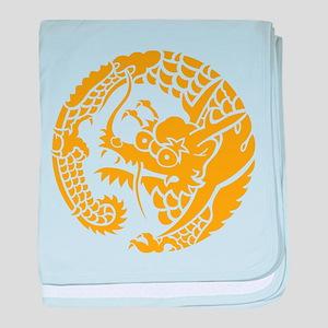 Circle of Nichiren Buddhism dragon baby blanket