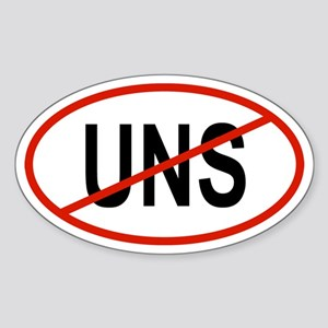 UNS Oval Sticker
