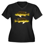 Brownspot Largemouth Cichlid Plus Size T-Shirt