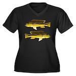 Brownspot Largemouth Cichlid Plus Size T-Shirt