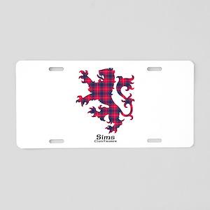Lion-Sims.Fraser Aluminum License Plate