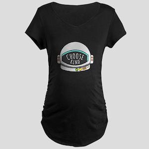 Choose Kind Helmet Shirt Maternity T-Shirt