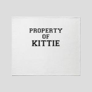 Property of KITTIE Throw Blanket