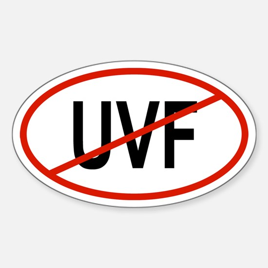 UVF Oval Decal