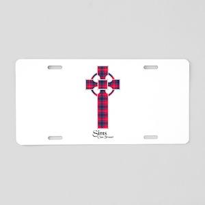 Cross-Sims.Fraser Aluminum License Plate