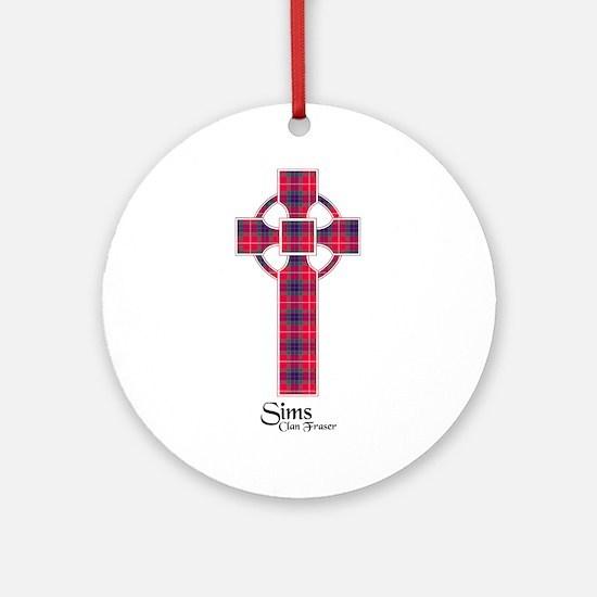 Cross-Sims.Fraser Round Ornament